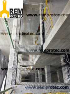 Protección buitrones y fosos de ascensores para obras en construcción